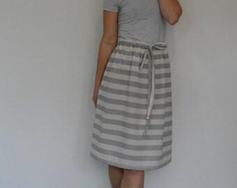 Drawstring skirt PDF sewing pattern