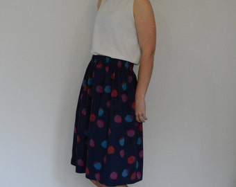 Elastic waist skirt PDF sewing pattern