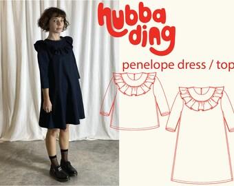 Ruffle collar dress / top sewing pattern