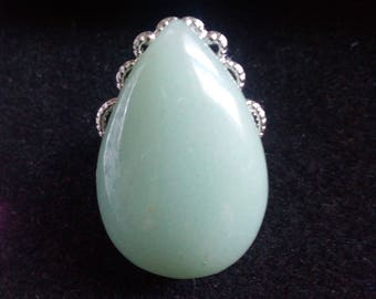 Aventurine gemstone ring