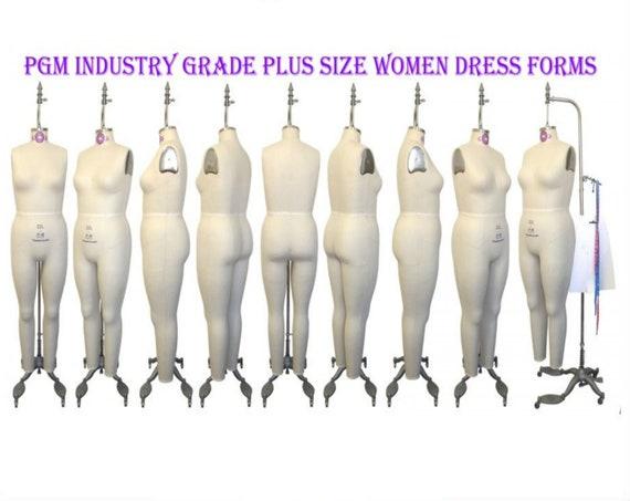PGM Large Women Plus Size Full Body Dress Form Industry Grade