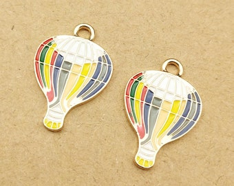 20Pcs Charms Antiqued Tibetan Silver fire balloon Charms Pendants Findings 21mm