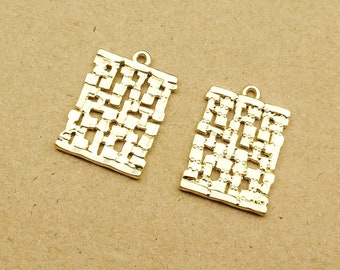 10PCS 18*27MM Simple Geometric Charms Diy Jewelry Accessories for Jewelry Making Gold Plated Charm