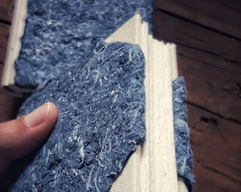 Notebook with denim paper cover