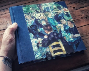 Notebook with artist's illustration