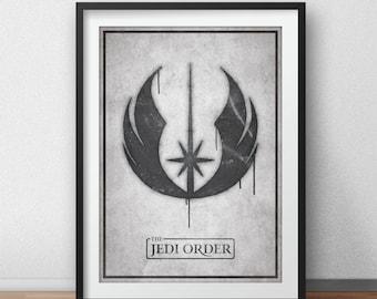 Star Wars impression d'Art, l'ordre Jedi Graffiti, affiche de film,