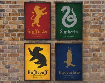 Harry Potter Art Prints Set Of 4