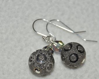 Sterling Silver and Swarovski Earrings