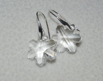 50a18427d Swarovski Crystal Snowflake Earrings