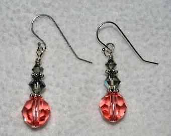 Swarovski Rose Peach Earrings