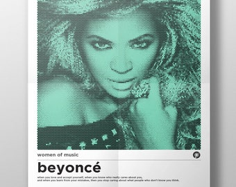 A3 Beyonce Women of Music Poster