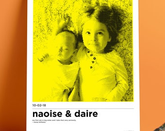 Custom Kids Portrait Poster A3
