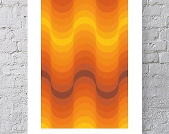 Art Print Poster - Verner Panton : Welle - 1973