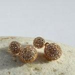 Cluster Rhinestone Earrings