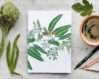 Notebook: A5 Foliage Design with 40 pages 120gsm