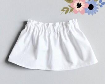 White toddler skirt 12