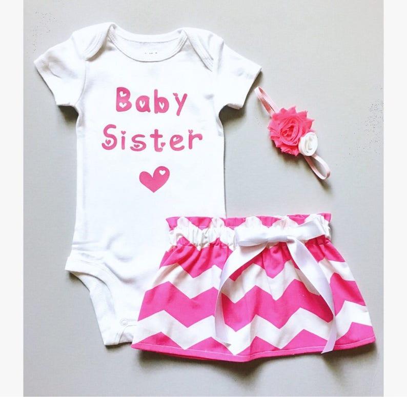 baby girl bodysuit newborn pink hearts pink baby sister shirt baby sister bodysuit coming home bodysuit new baby sister