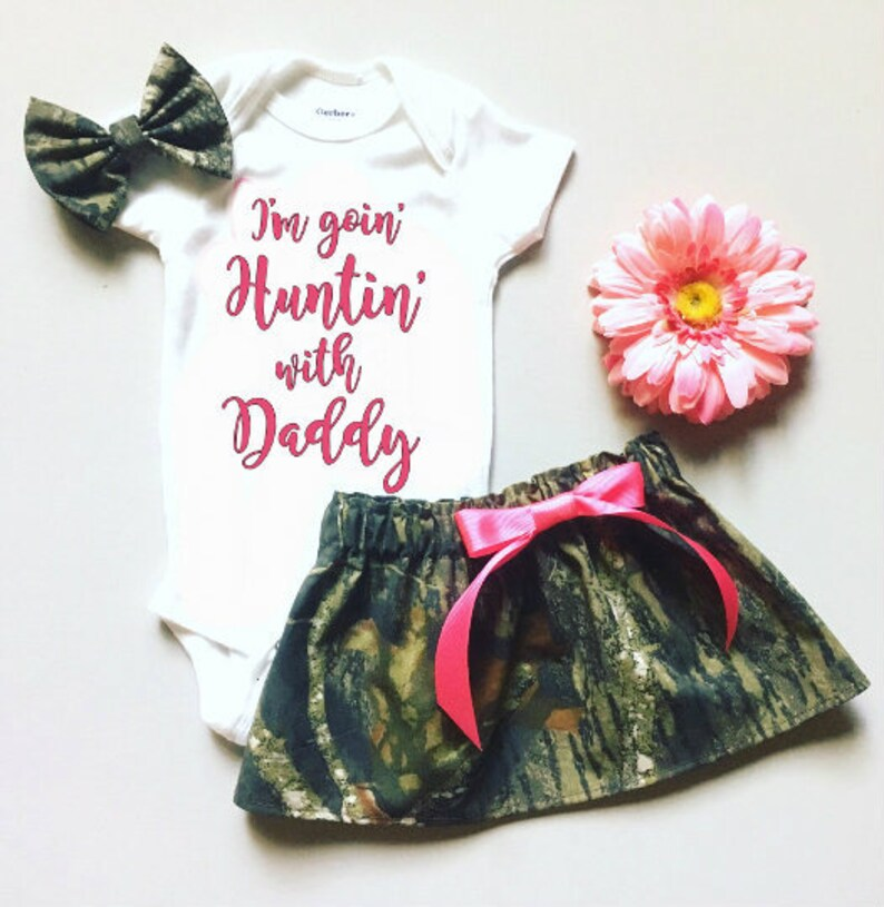 c4ed4c5a8 I'm going hunting with daddy outfit Personalized Baby | Etsy