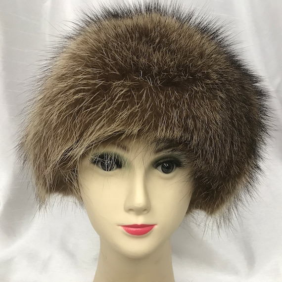 Fur hat, raccoon hat, winter hat, warm hat