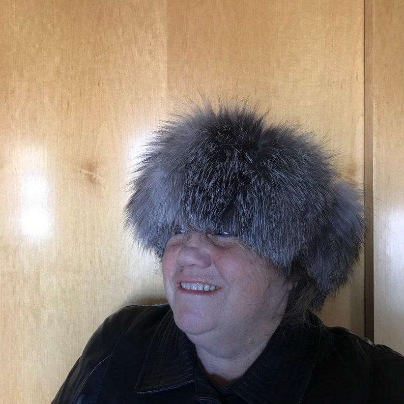 silver fox earmuff winter headband Headband in silver fox
