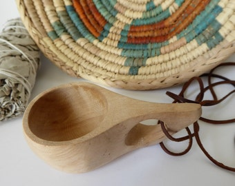 Kuksa ~ Vintage Nordic Wooden Shot Cup