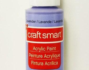 Craft Smart Acrylic Paint Lavender  2 Fl.oz.  Bottle