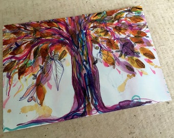 Art Postcard  'The Wishing Tree'