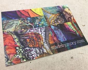 Art Postcard 'Inside My Head'