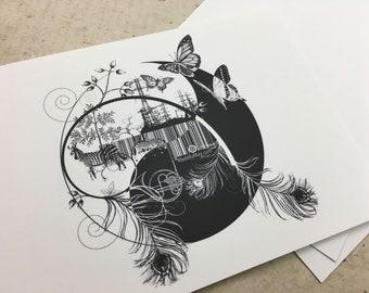 Art Postcard 'Counterbalance'