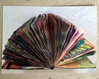 Art Postcard  'Open Pages'