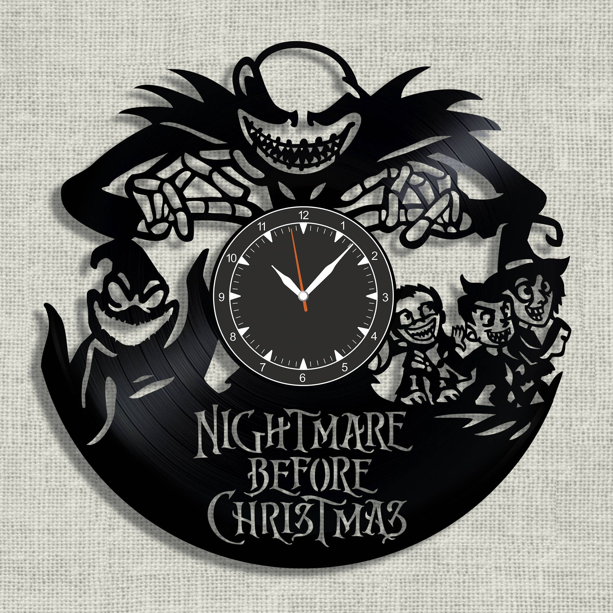 Nightmare before Christmas vinyl clock Nightmare before | Etsy