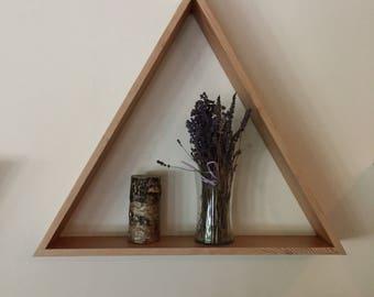 Reclaimed Wood Triangle Shelf Large