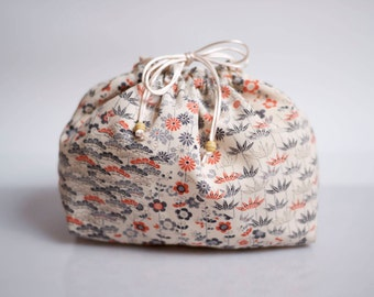 Lingerie bag made with Japanese kimono silk, laundry bag for travel, underwear packing accessory