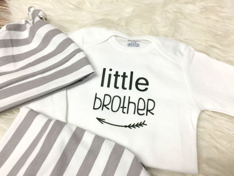d4300391c Newborn Boy Set Baby Boy Coming Home Outfit Little Brother | Etsy