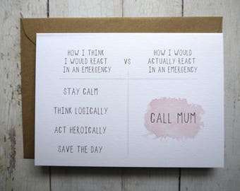 Birthday Card For Mum Funny Moms Mother Daughter To Son