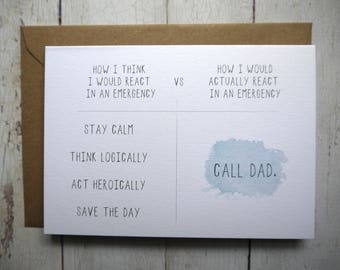 Funny Dad Birthday Card For Dads Father Daughter To Son