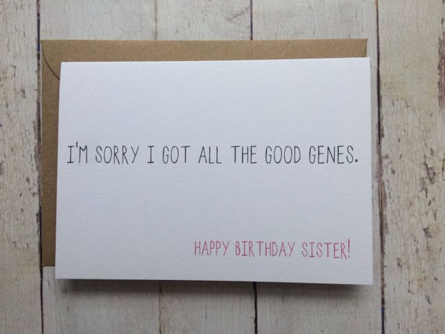 Funny Sister Birthday Card For Sisters