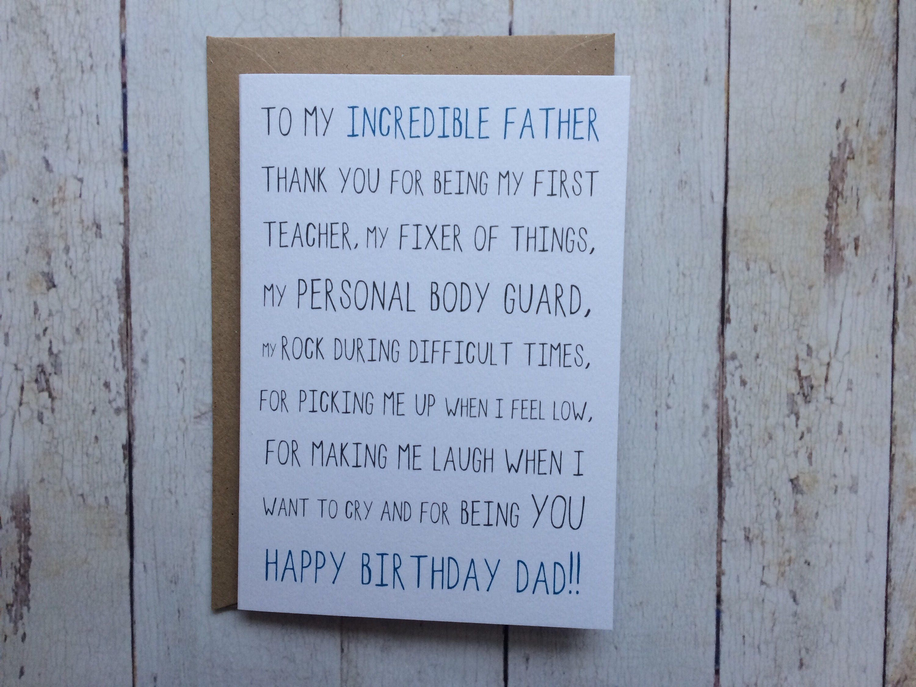 Dad Birthday Card Funny