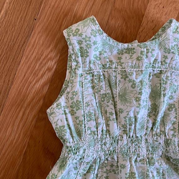 1990's laura ashley green floral print sleeveless… - image 5