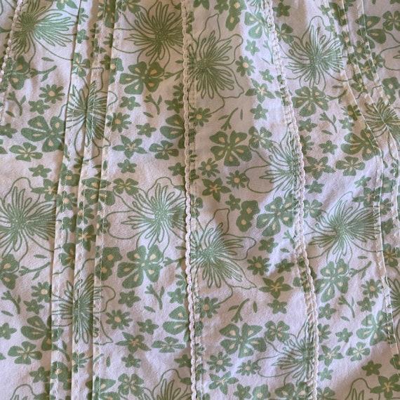 1990's laura ashley green floral print sleeveless… - image 4