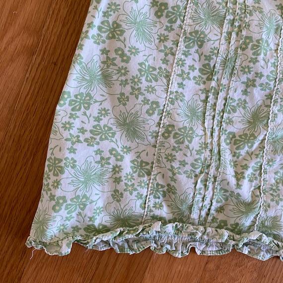 1990's laura ashley green floral print sleeveless… - image 3