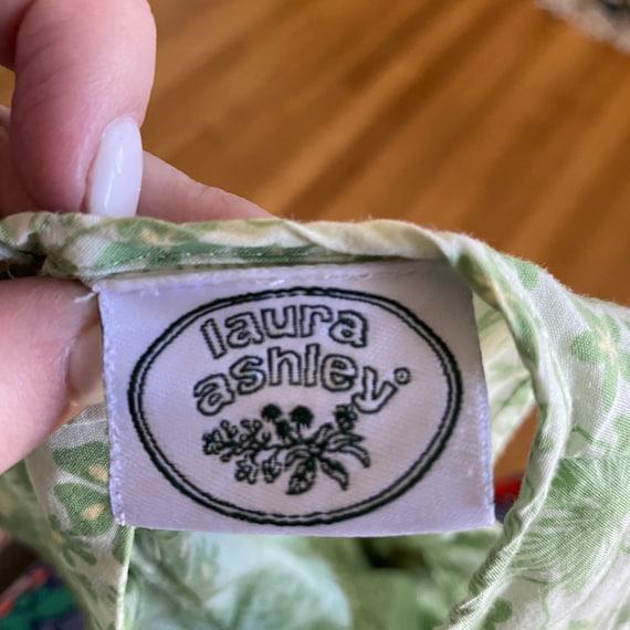 1990's laura ashley green floral print sleeveless… - image 7