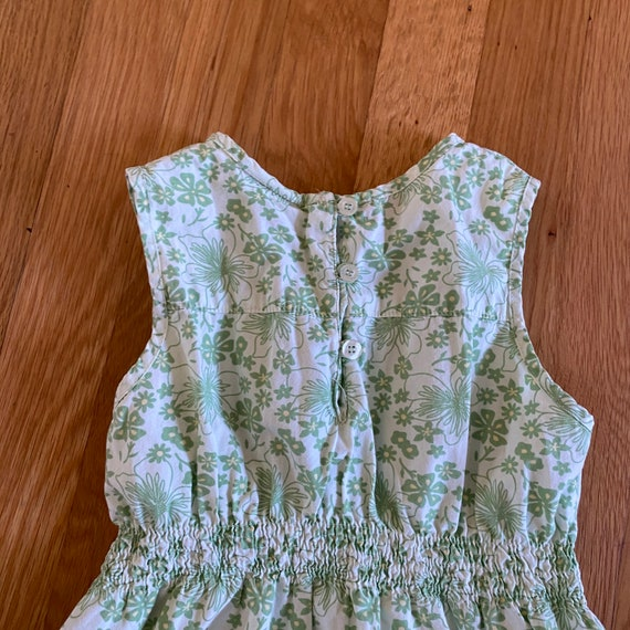 1990's laura ashley green floral print sleeveless… - image 6