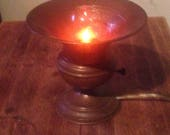 Hammered copper vintage accent lamp