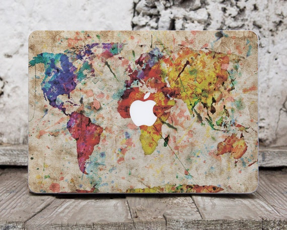 Map world map decal laptop decals macbook pro reina 15 skin gumiabroncs Image collections