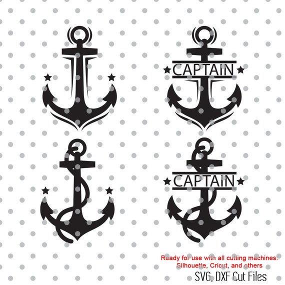 Anchors Svg Captain Svg Sea Life Svg Navy Svg Dxf Dxf Etsy