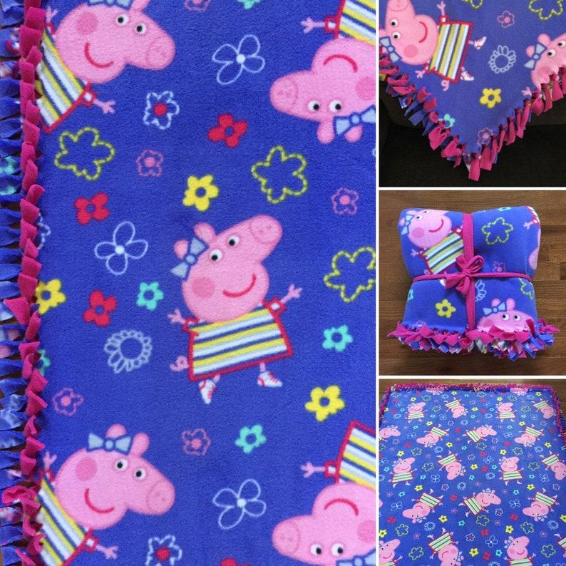 Große Peppa Pig Handgefertigte Krawatte Fleecedecke 55 X 65 Peppa Pig Bettwäsche Peppa Pig Geschenk