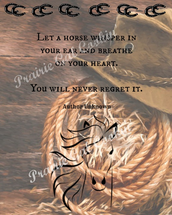 Instant Download Horse Silhouette Breathe Whisper Heart Etsy