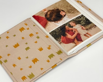 Photo Album Baby Girl Gold Crown Tiara Princess Birthday Baby Shower Gift 4x6 or 5x7 Pictures 663
