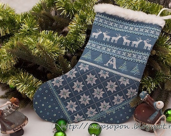 Christmas sock (pattern for embroidery)